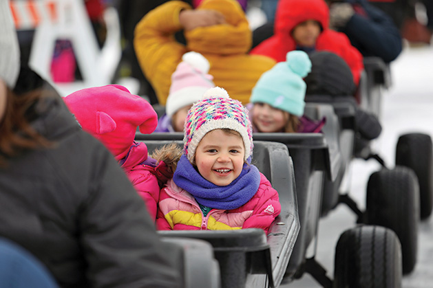 Fire & Ice Express rides at Plymouth's Fire & Ice Festival