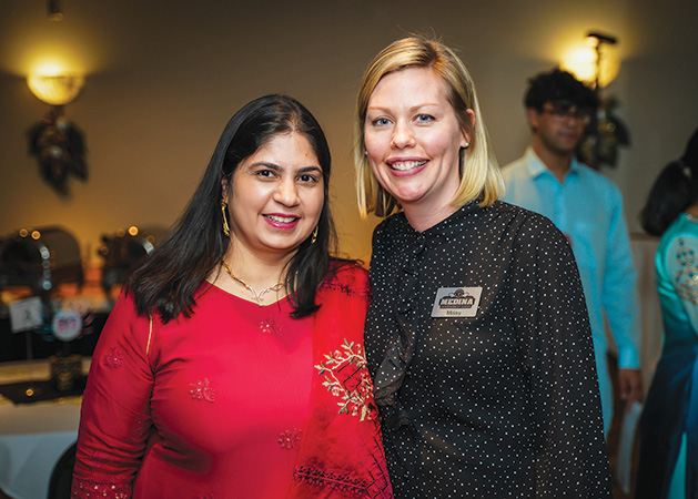 Sonia Puri and Missy Miller at the DilliHaart appreciation dinner