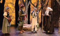 From left, Samantha McCluskey, Timothy Radermacher, Francisca Saenger and Sarah Taft perform a scene from Into the Woods in February 2014.