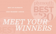 A graphic announcing the Plymouth Magazine Best of Plymouth 2020 winners.