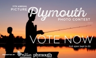 A graphic announcing voting for the 2020 Picture Plymouth photo contest.