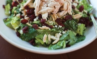 Cranberries grace more than mere side plates this month, like in this chicken salad from Doolittles.