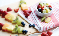 Fresh fruit skewers from Fresh Thyme Farmers Market