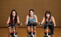 Ashley Hall, Tiffany Berenberg and Patty Knudson at Plymouth's Life Time Fitness.