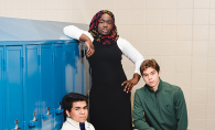 Armstrong High School students Nadrat Amos, Ben Aoki-Sherwood and Marico Bibriezca