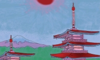 pagodas, pagoda artwork, japanese art, japanese culture, wayzata high school