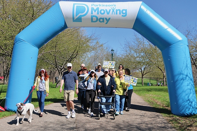 The finish line at the Parkinson's Foundation's Moving Day
