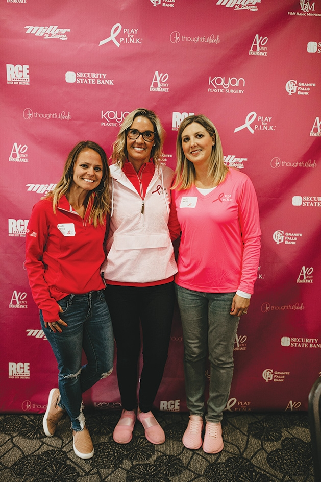Katie Ricks, chairwoman Amy Gallagher, Laura Macke at Play for PINK