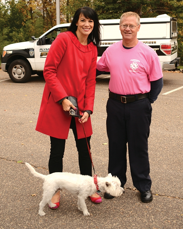 Mayor Kelli Slavik and fire chief Rick Kline
