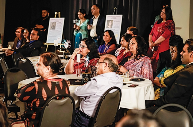 Attendees gather for the evening's presentation at the DilliHaart appreciation dinner