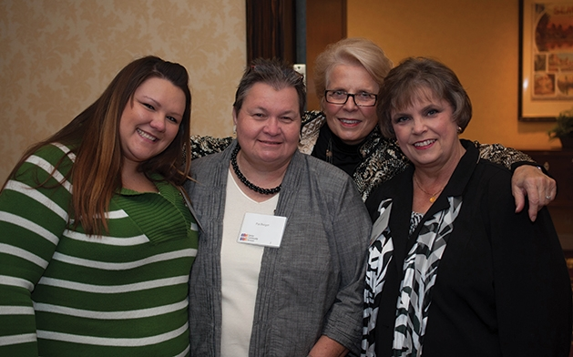 Stephanie Ruffi, Pat Burger, Rickie Gill and Penny Johnson