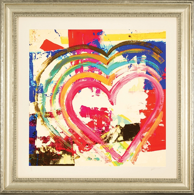 Heart #44 original mixed media on canvas