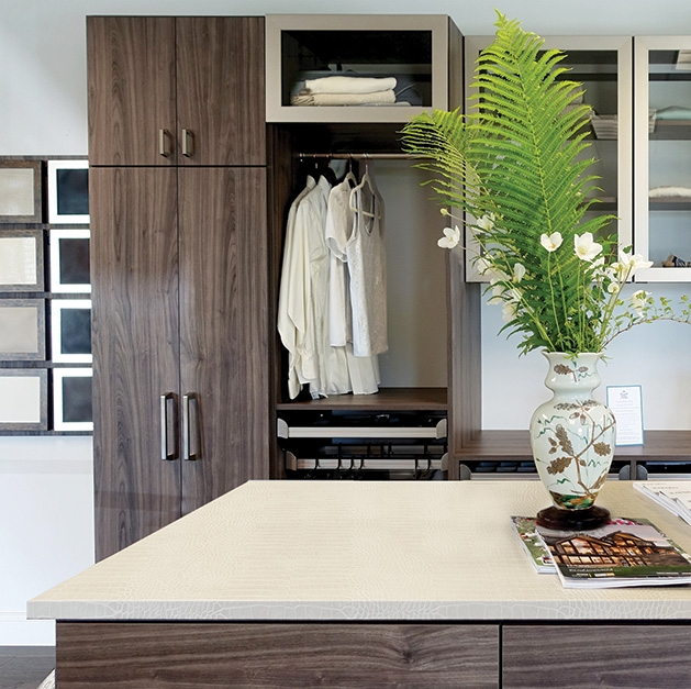 A closet organization solution by Closet & Storage Concepts.
