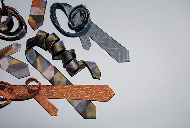 A variety of neckties from online tie store Geometry ties