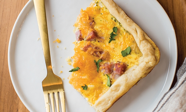 ham and cheese slab pie
