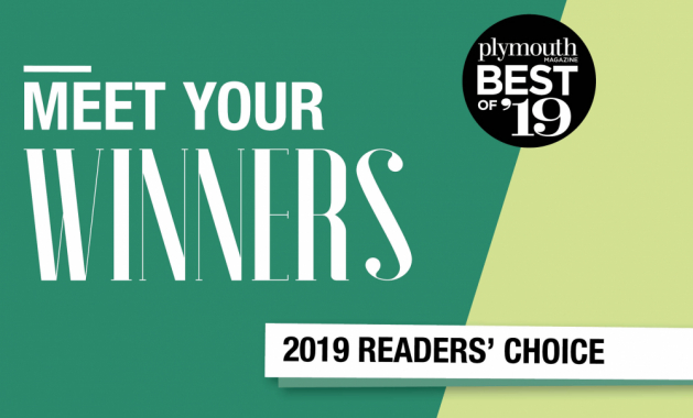 """A graphic that reads """"Meet Your Winners, Plymouth Magazine Best of '19 Readers' Choice"""""""