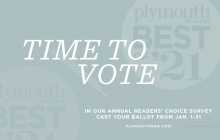 A graphic announcing the Best of Plymouth 2021 contest.