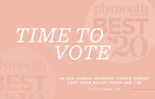 A graphic announcing the 2020 Best of Plymouth Magazine readers' choice survey