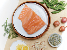 A cut of salmon from L&B Meal Creations, Lunds & Byerlys' meal kit service.