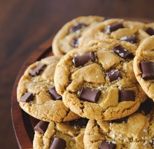 Vegan chocolate chip cookies by Hope's Vegan Kitchen.