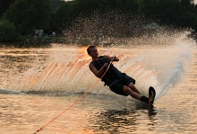 A teenager water skis on Medicine Lake in this winning photo from the 2018 Picture Plymouth photo contest.