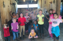 Kids at Skyrock Farm