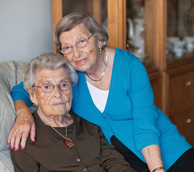 "Eva Gross and  Ella Weis are  just two of  the Holocaust survivors photographed for ""Transfer of Memory."""