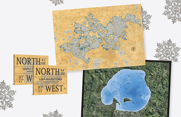 A collection of gifts from Arrow Mapping, featured in our 2019 Holiday Gift Guide