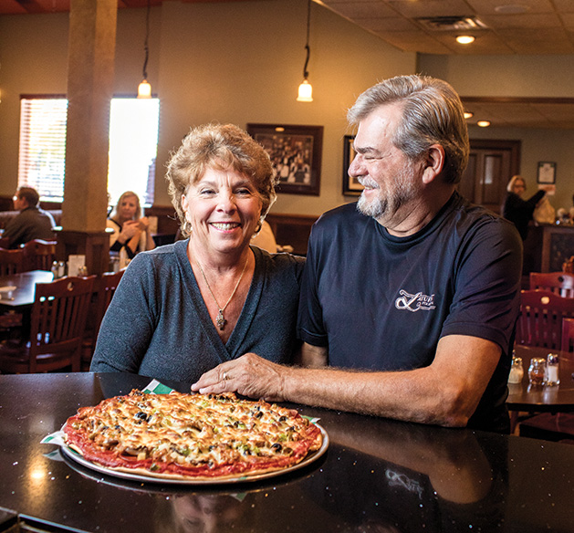 Mike and Barb Latuff, owners of Latuff's Pizzeria