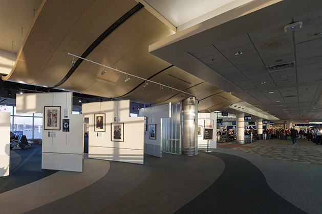 """Transfer of Memory"" exhibit at the Minneapolis/St. Paul International  Airport."